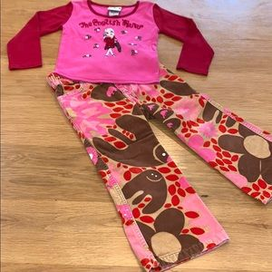 Oilily ~ English Roses ~ Top Pants Set ~ Size 3-4